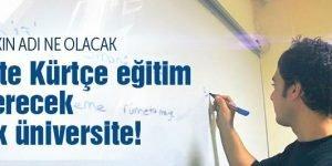 İşte Kürtçe eğitim verecek ilk üniversite!