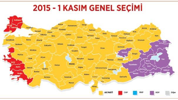 1 Kasım Genel Seçim Sonuçları