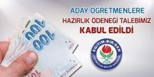 Aday öğretmenlere hazırlık ödeneği verilecek…