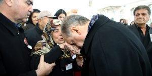 Erdoğan şehit yakınlarına başsağlığı diledi