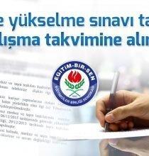 Eğitim Bir-Sen: Görevde yükselme sınavı talebimiz çalışma takvimine alındı